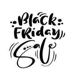black friday calligraphy lettering text vector image