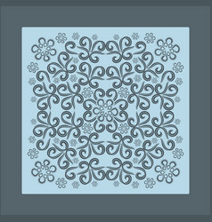 blue bandana image vector image