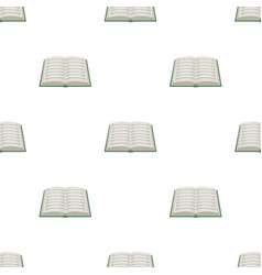 book icon in cartoon style isolated on white vector image