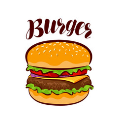 Burger american fast food element for design vector