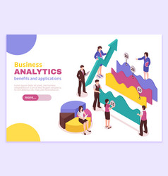 Business analyst poster vector