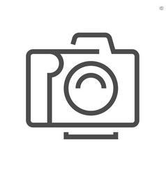 Camera and lens icon design 48x48 pixel perfect vector