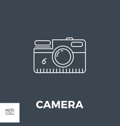 camera related line icon vector image