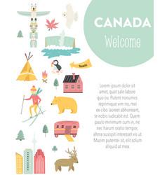 Canada cartoon banner travel vector