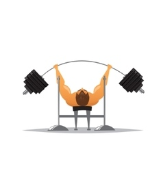 Cartoon weightlifter vector image