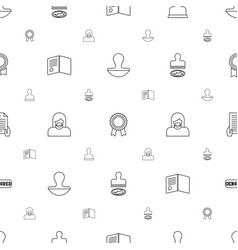 certificate icons pattern seamless white vector image