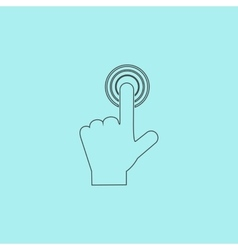 click hand icon pointer vector image