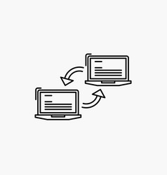 Computer connection link network sync line icon vector image on VectorStock
