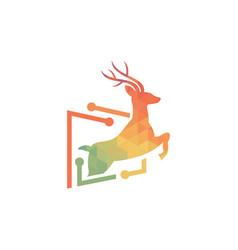 deer geometric logo vector image