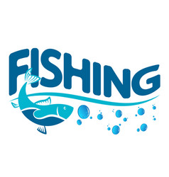 design for fishing vector image