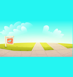 empty outdoors nature place with sold signboard vector image