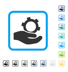 engineering service framed icon vector image
