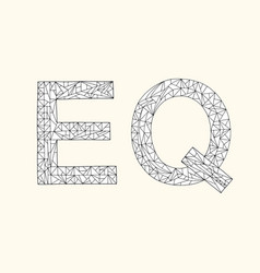 eq hand drawn coloring book emotional quotient vector image