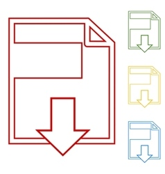 File download Set of line icons vector image