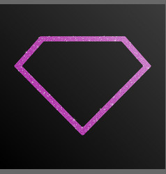 Frame pink purple sequin diamond vector