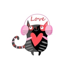 Graphic a cat lover vector