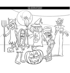 Halloween holiday cartoon funny characters vector