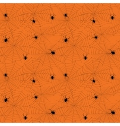Halloween spider web seamless pattern vector image