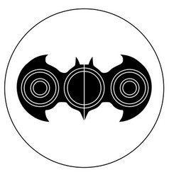 Hand-spinner in the form of a bat vector