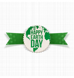 Happy Earth Day Banner Template and green Ribbon vector