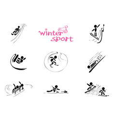 in winter sports vector image