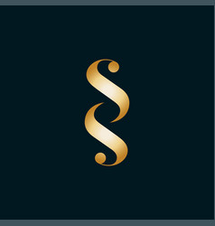 initials letter sss icon logo design vector image
