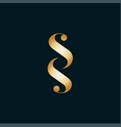 Initials letter sss icon logo design vector