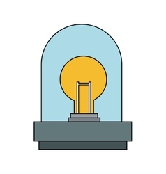 Isolated robot with light bulb design vector