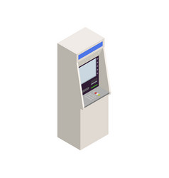 Isometric atm icon vector