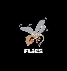 little flies image vector image