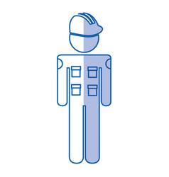 Mechanic engineer avatar silhouette vector