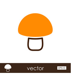 mushroom outline icon vegetable vector image vector image