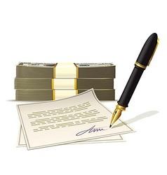 Paperwork for cash money vector