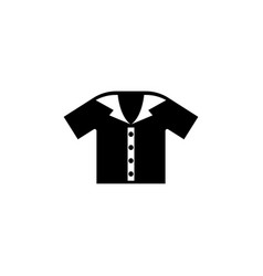 polo shirt flat icon vector image