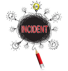 red pencil idea concept incident creative vector image