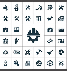 repair icons universal set for web and ui vector image