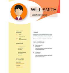 Resume template cv creative background ima vector