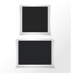 Retro photo frames vector