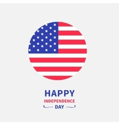 Round circle shape american flag icon Star and vector image