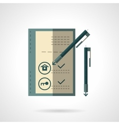 Sale house document flat icon vector image