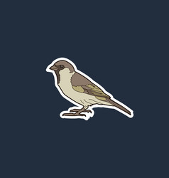 simple of a sparrow vector image