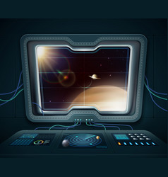 Space ship window vector