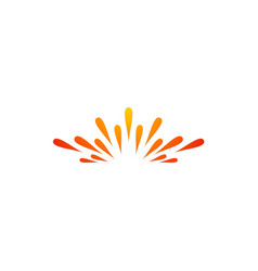 spark absract shine logo vector image