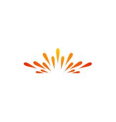 Spark abstract shine logo vector