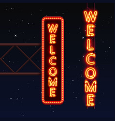 Street sign that says welcome vector