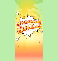 Summer sale hot background with palm tree vector