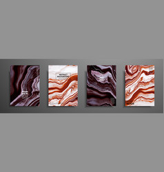 Swirls of marble or the ripples of agate liquid vector