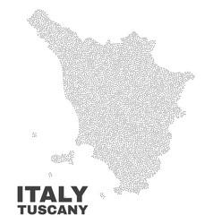 Tuscany region map of dots vector
