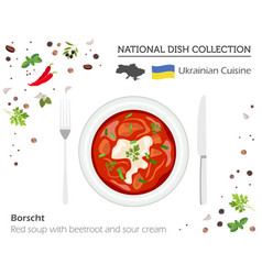 Ukrainian cuisine european national dish vector