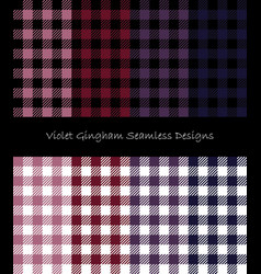 Violet lumberjack pattern collection vector